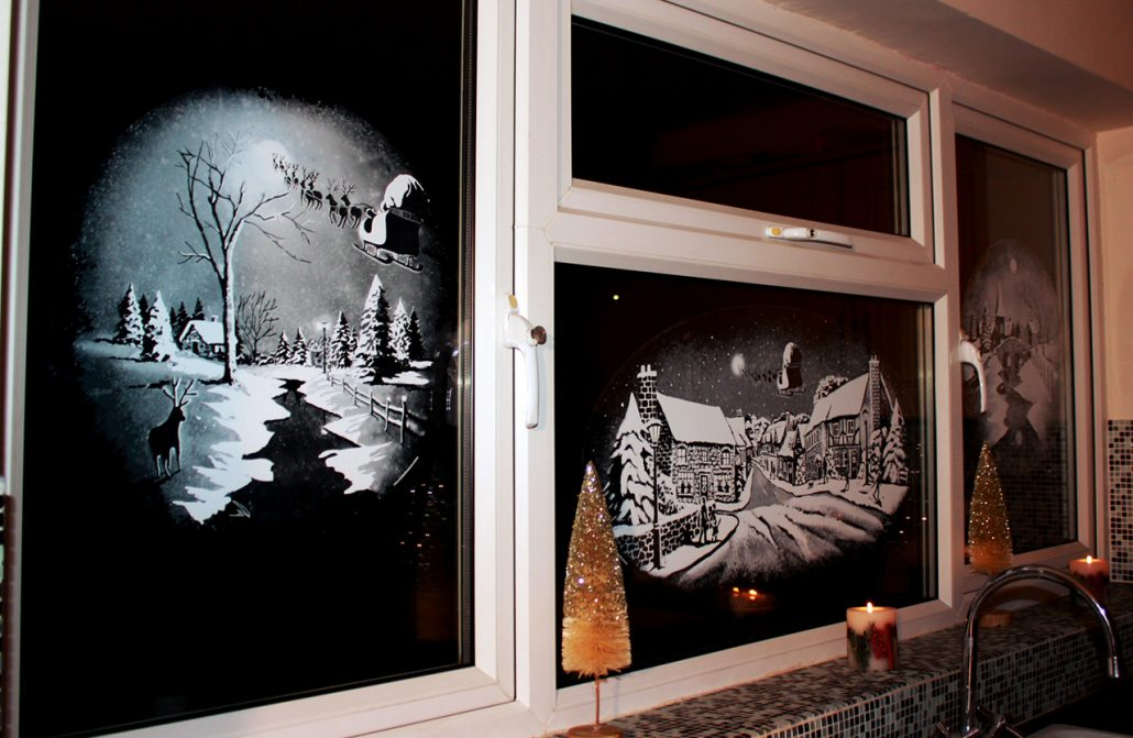 Snow Windows River and Street decal